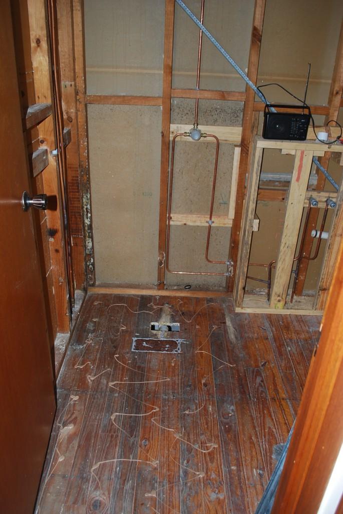 Floor sheeting step 1