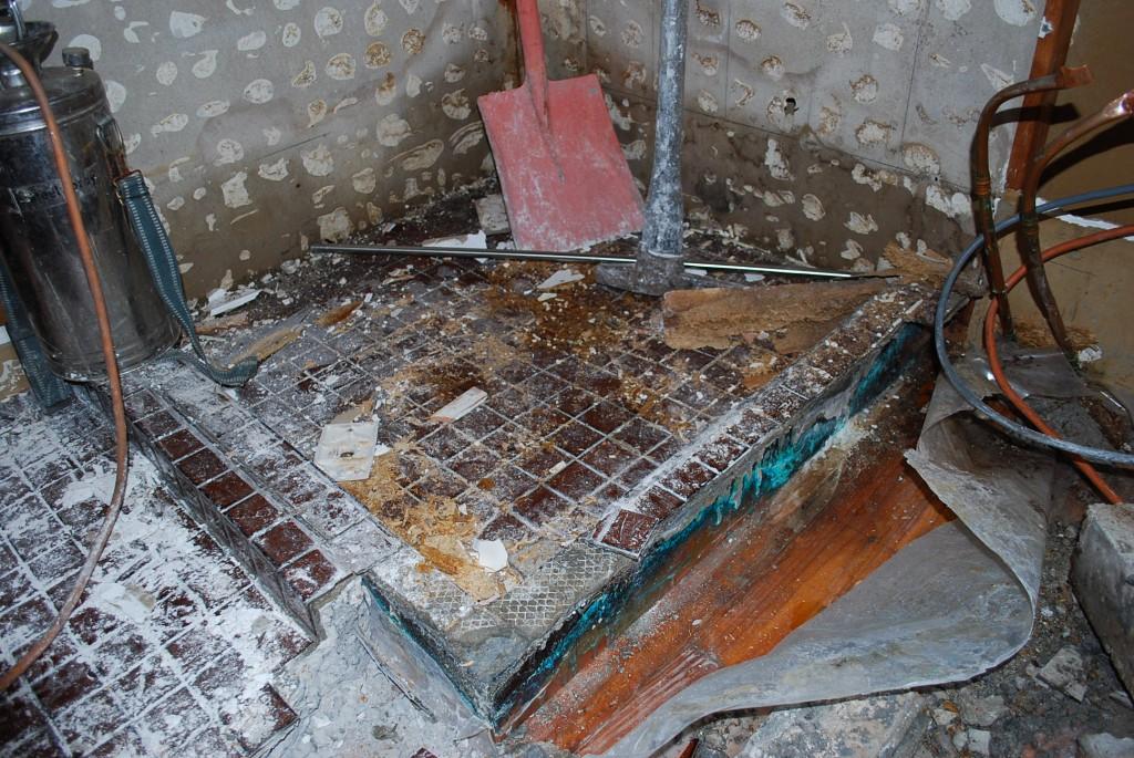 Leaking shower floor 2