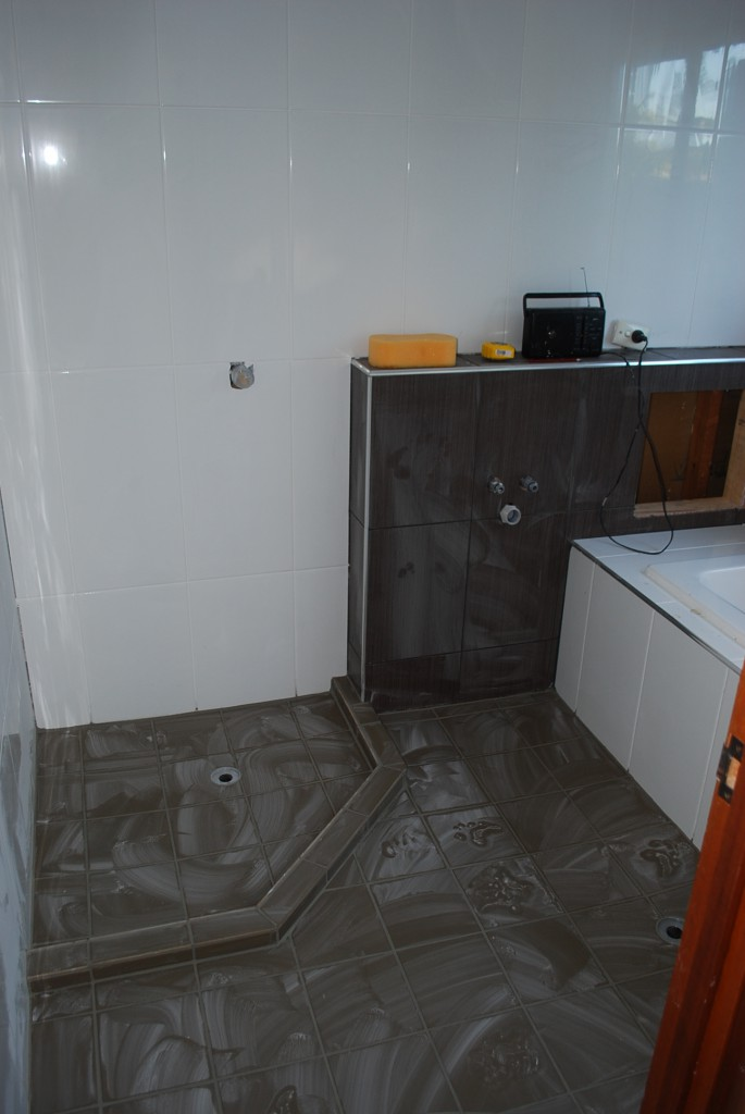 Tiling walls and floor