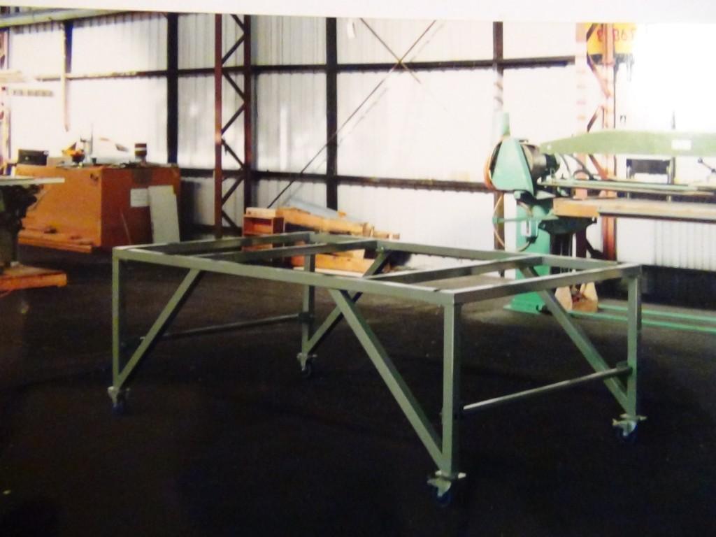 Steel workshop table