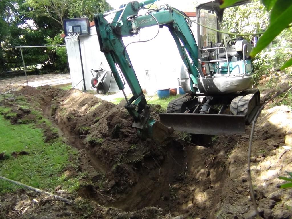 Digging pit